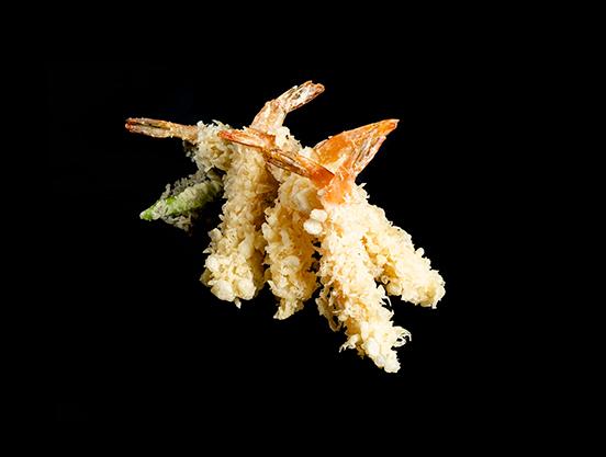 Entrantes Ebi tempura