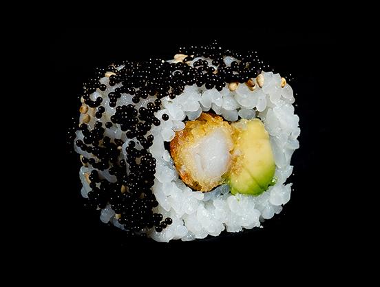 Makis calientes Ebi tempura maki